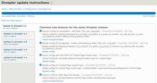 Usage of checklist API module in Droopler - Drupal distribution