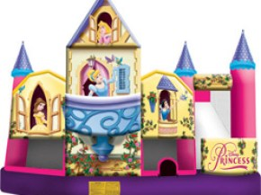 Disney Princess Collection 3D 5 In 1 Combo - Inflatable Bouncer Castle