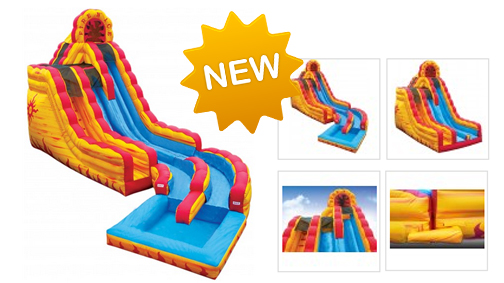 Fire & Ice with Pool - Inflatable Slide with Pool