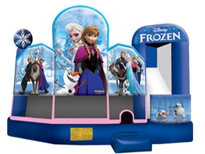 Inflatable Disney Frozen 5 in 1 inflatable bounce house