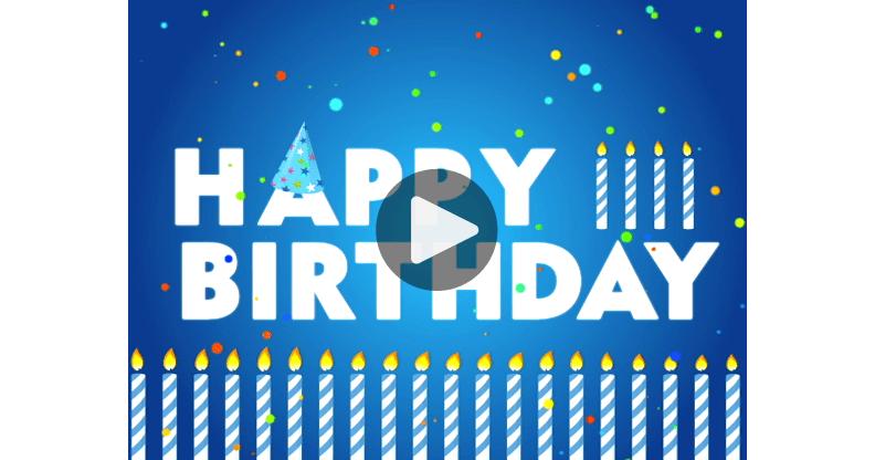 ma carte happy birthday lettres animees