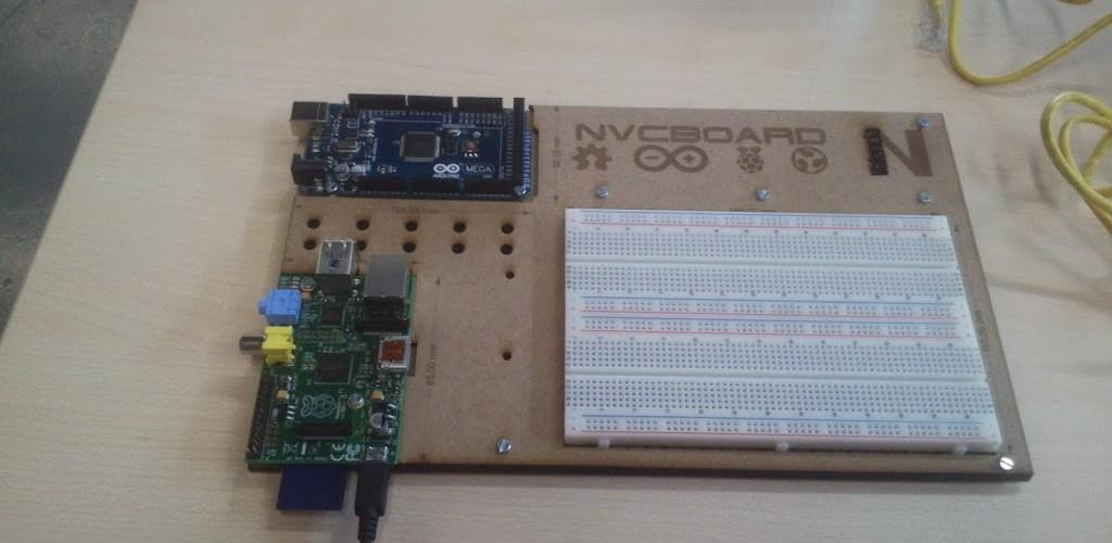 Tabla de pruebas Arduino + Rasp NVCBOARD