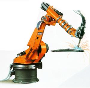 Brazo robótico para tareas de soldadura.