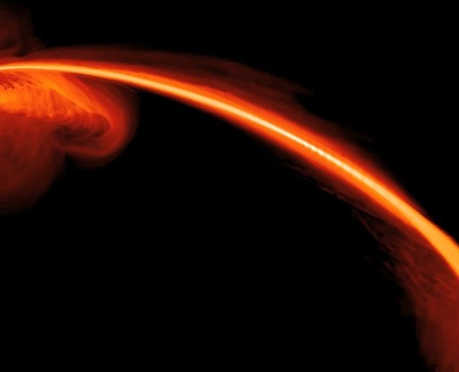A star eating supermassive black hole
