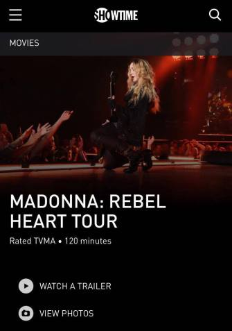 Madonna Rebel Heart Tour film: Another detail confirmed