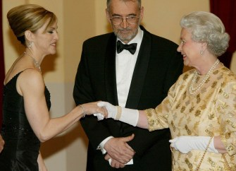12 years today: Madonna meets the Queen Elizabeth II