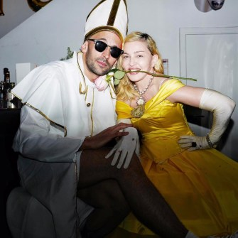 Madonna dressed as The Beast for the Purim Party