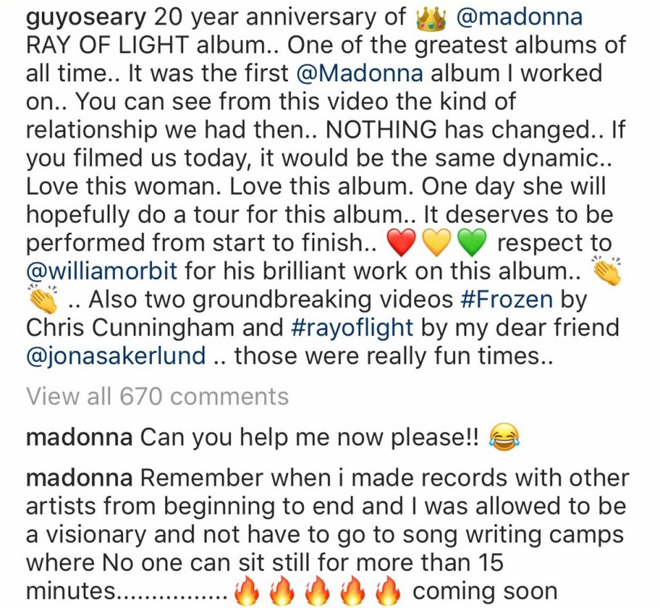 Madonna song writing camps