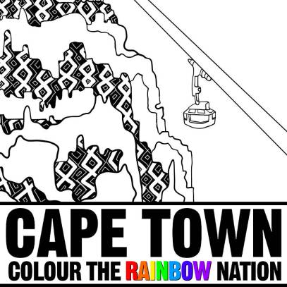 Cable Car - Cape Town: Colour the Rainbow Nation Coloring Book by Pearl R. Lewis
