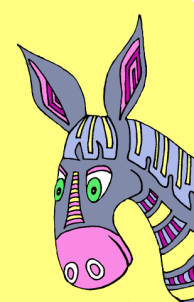 #colorthecarols - The Blessed Blue Donkey from Color the Trumpet Carols