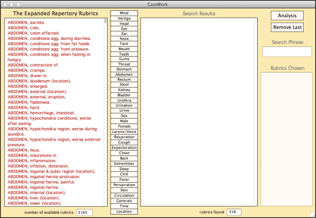 rubric listing