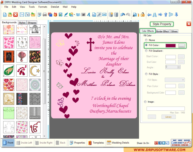 Drpu Wedding Card Designer Design Marriage