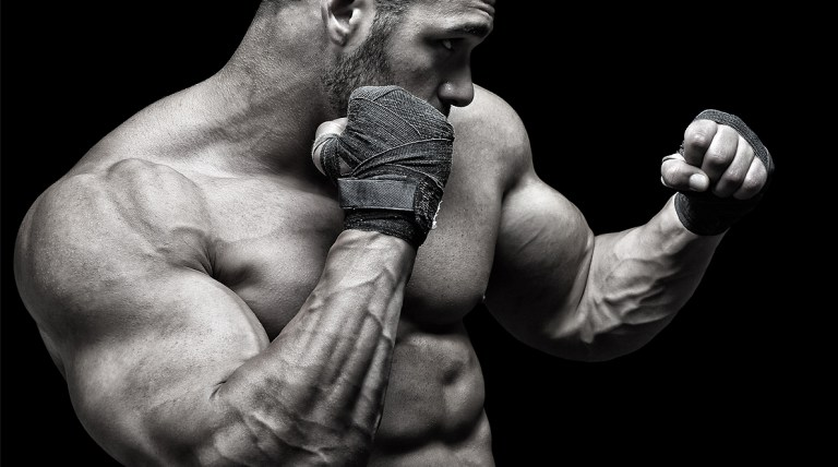 man boxing exercise