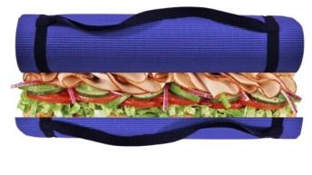 yoga mat sandwich