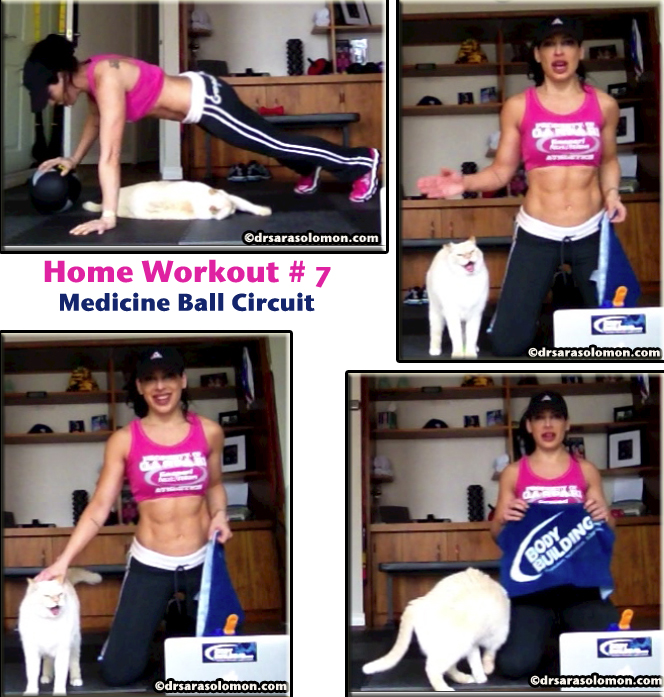 home workout #7: Medicine Ball Total Body Circuit