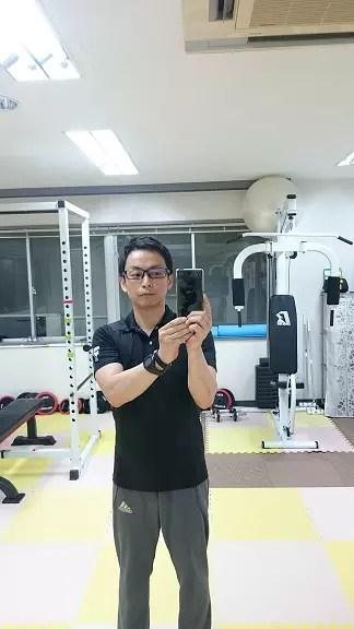 トレーニング中撮影