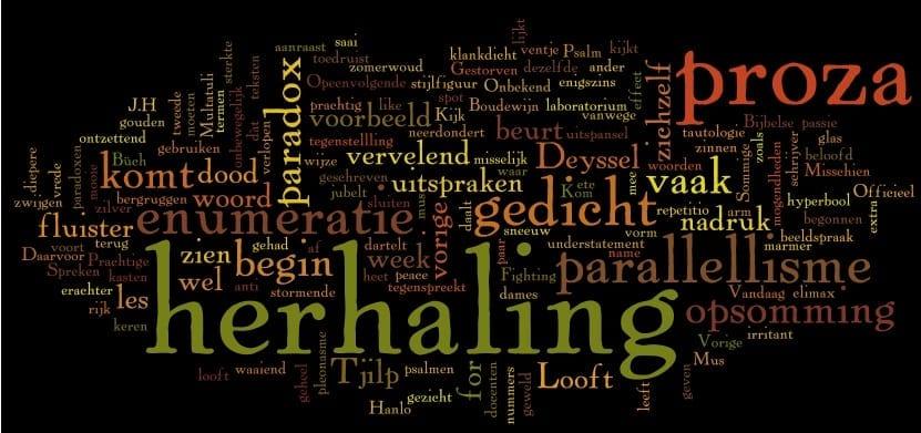 Stijlfiguren 6: herhaling, parallellisme, opsomming en paradox (1/2)