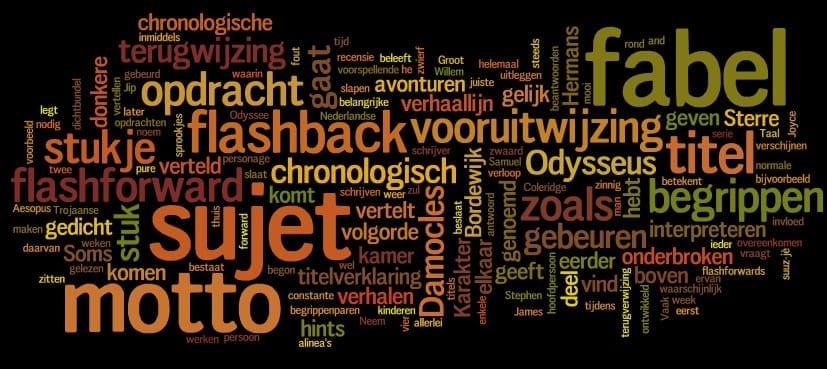 Verhaaltheorie 6: fabel en sujet, motto en titel
