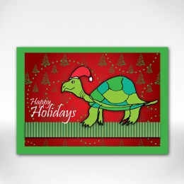 Turtle holiday card front