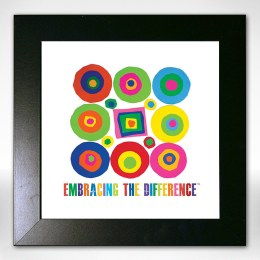 "Framed ""Embracing the Difference™ Circles & Square"""