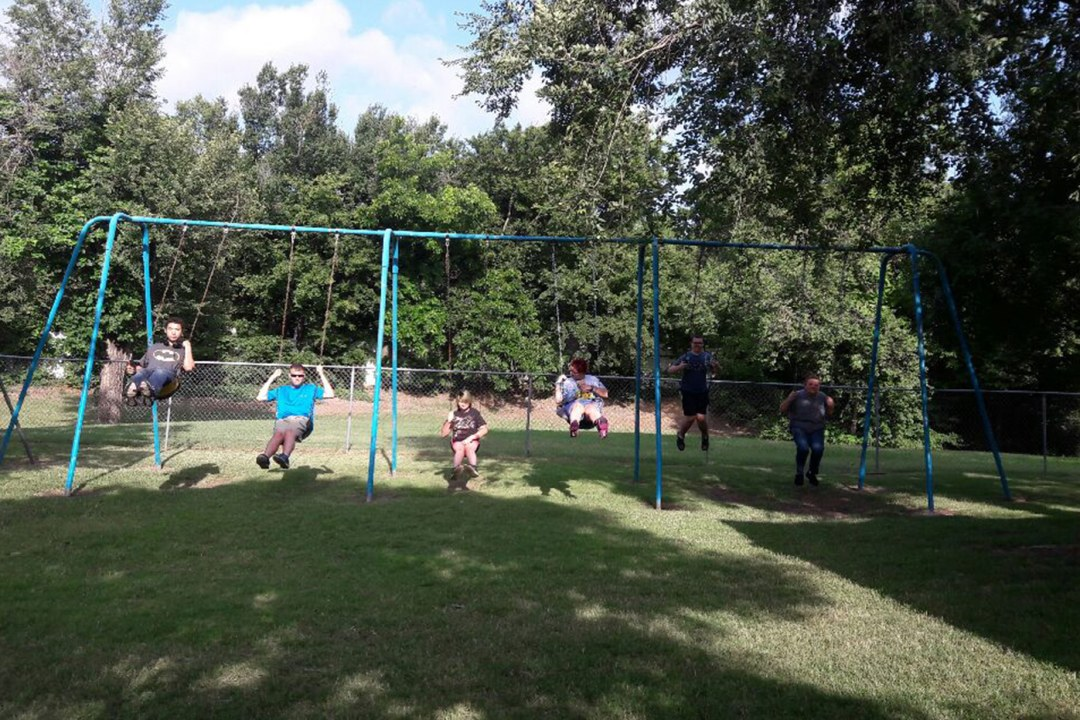 Campers swinging at DRTC