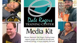 "DRTC Media Kit cover featuring 8 individuals in DRTC's programs, along with the DRTC logo and text ""Media Kit."""