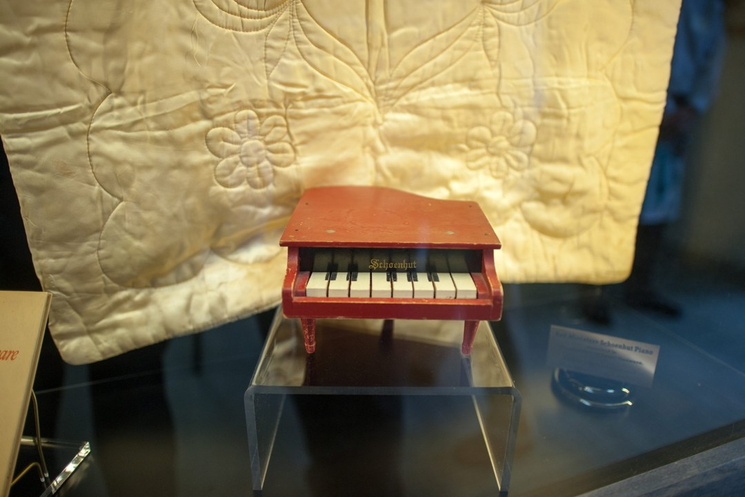 "Robin Roger's toy piano referenced in the book, ""Angel Unaware."""
