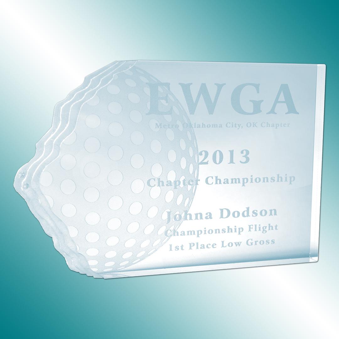 Golf award acrylic
