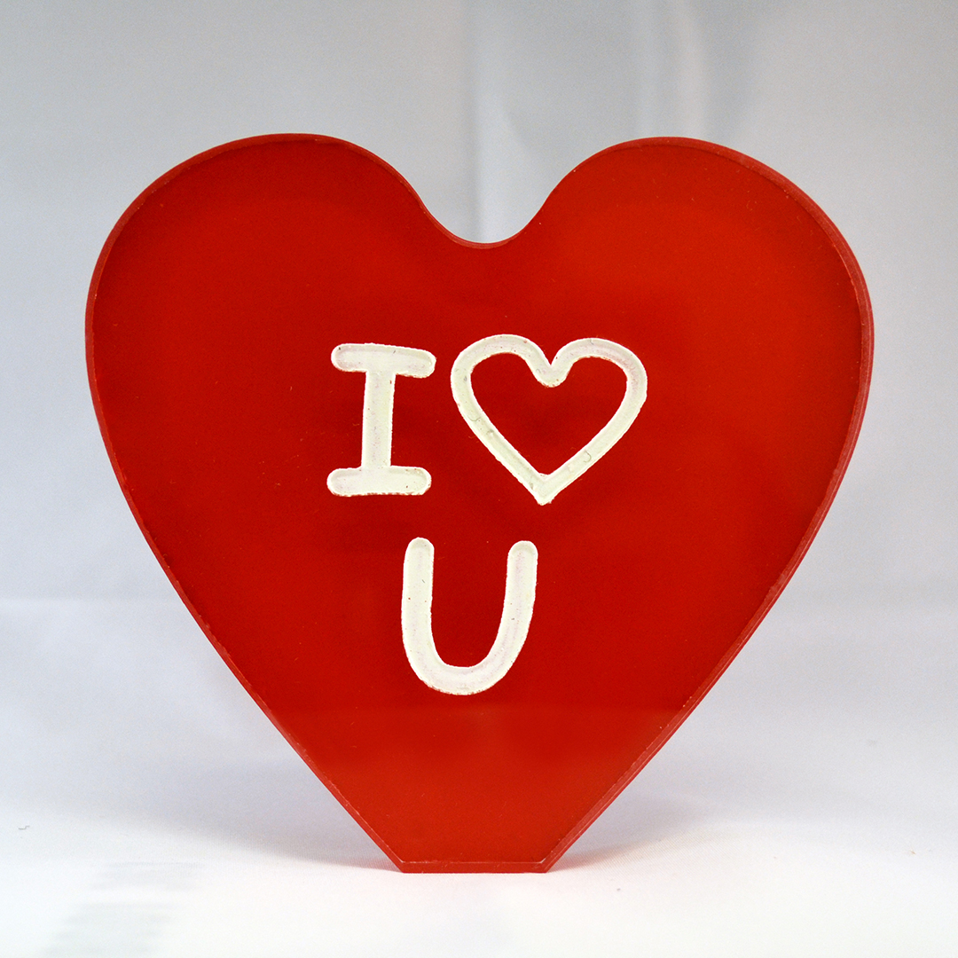 Heart acrylic