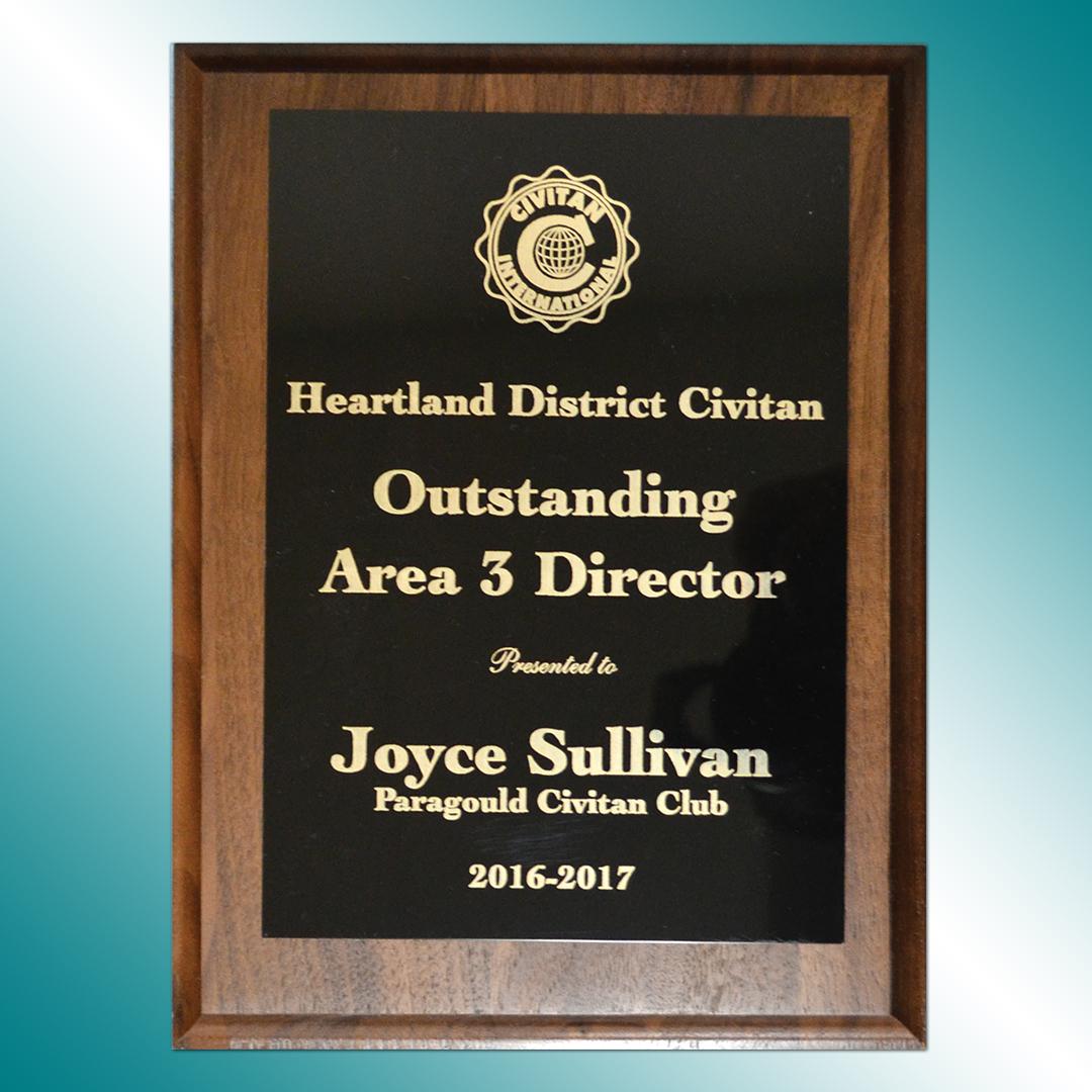 Plaque for Heartland District Civitan
