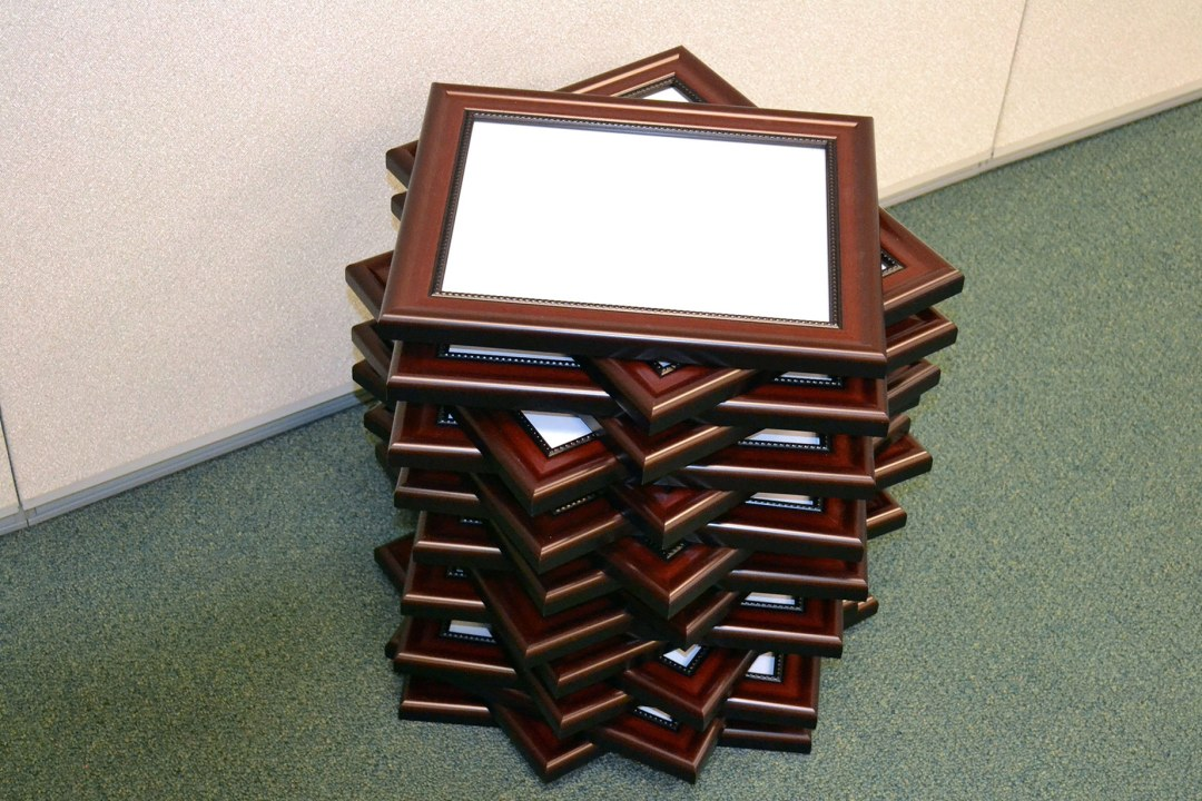 Diploma frame stack