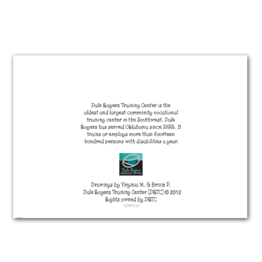 Back cover design of Bow Wow holiday card.