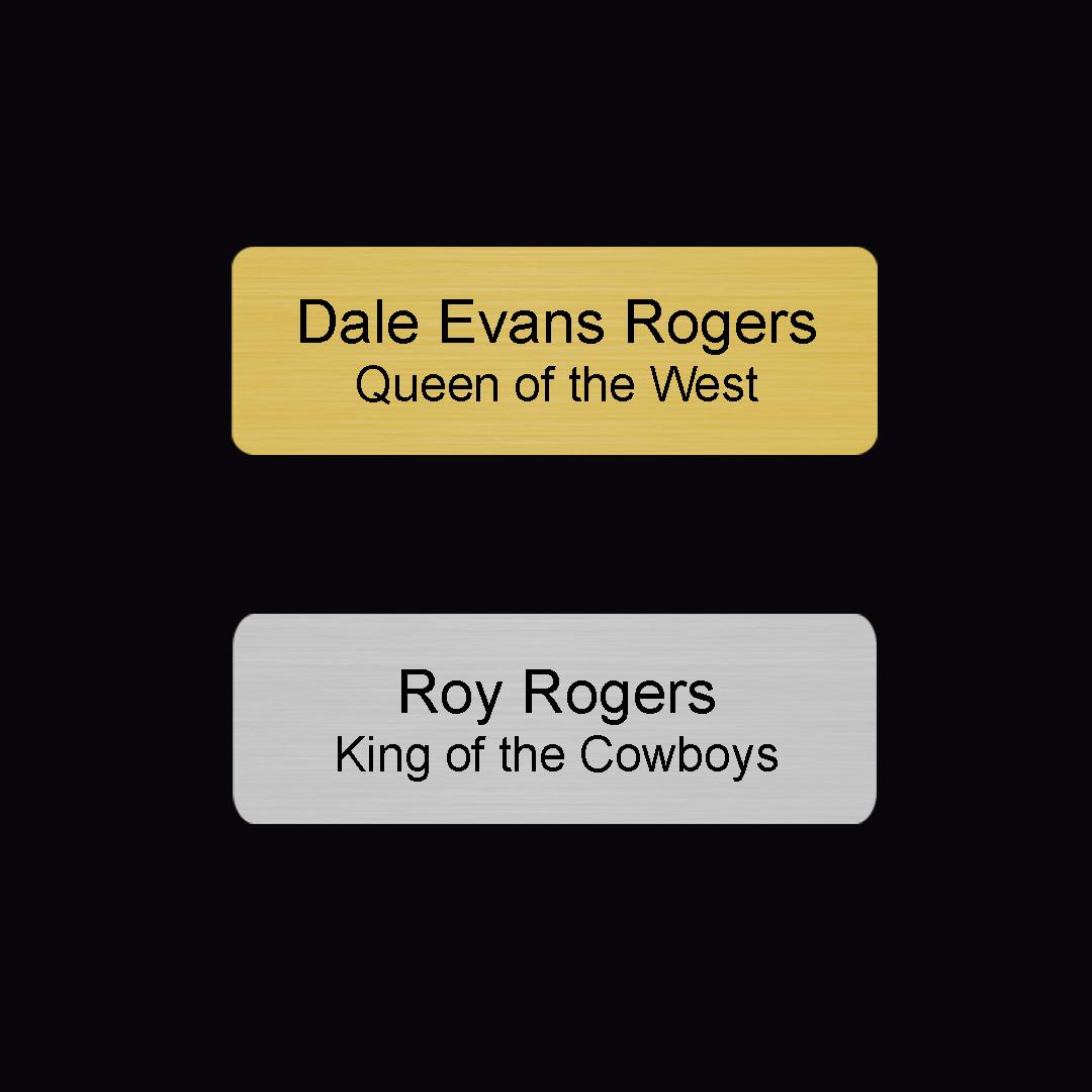 1 X3 Name Badge Plastic 2 Color Laser Engraved Dale Rogers Training Center