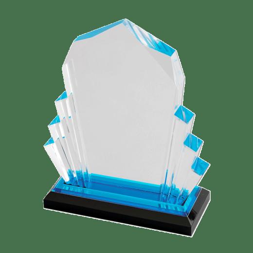 Blank blue Faceted Impress award