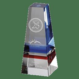Engraved Infinity crystal award.
