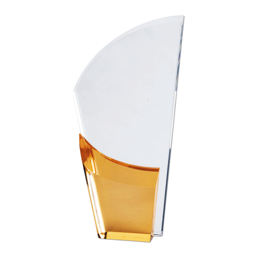 Blank gold Lunar Acrylic award