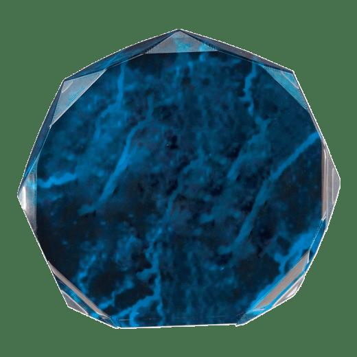 Blue marble octagon acrylic.