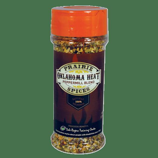 Oklahoma Heat spice bottle.