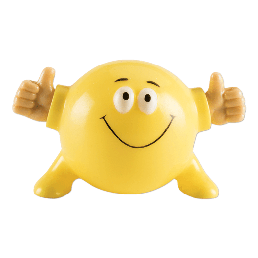 Yellow Poppin Pal giving two thumbs up.