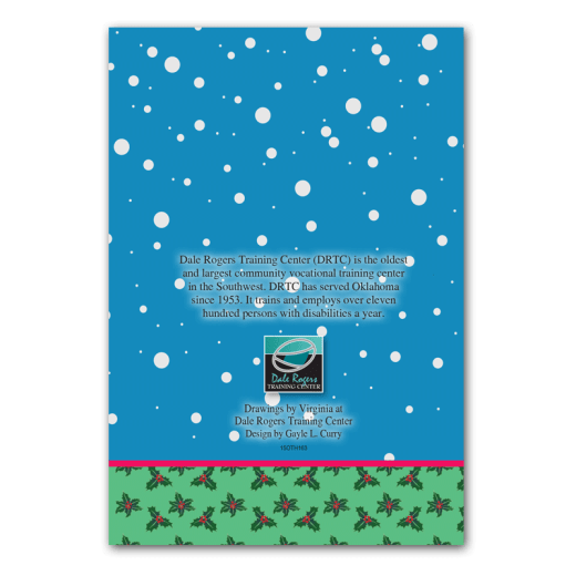Back cover design of Presents Holiday Card.