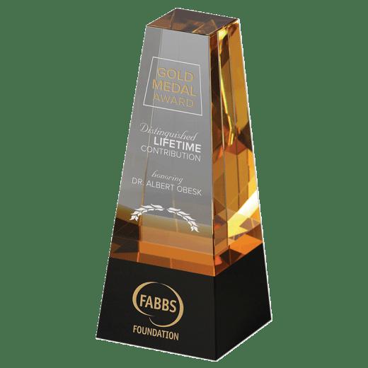 Engraved Radiance crystal award.