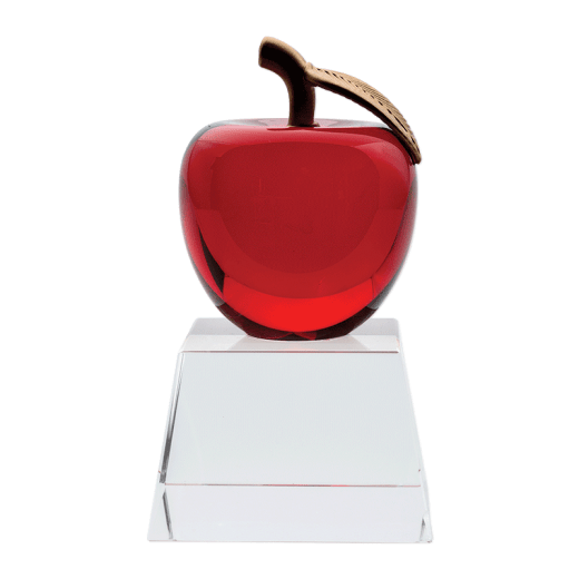 Red Crystal Apple on a clear base.