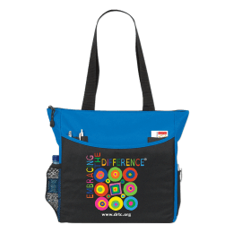 Tote bag featuring DRTC's Embracing the Difference® logo.