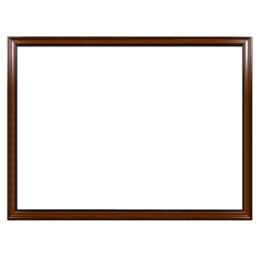 A walnut with bead picture frame with no mat.