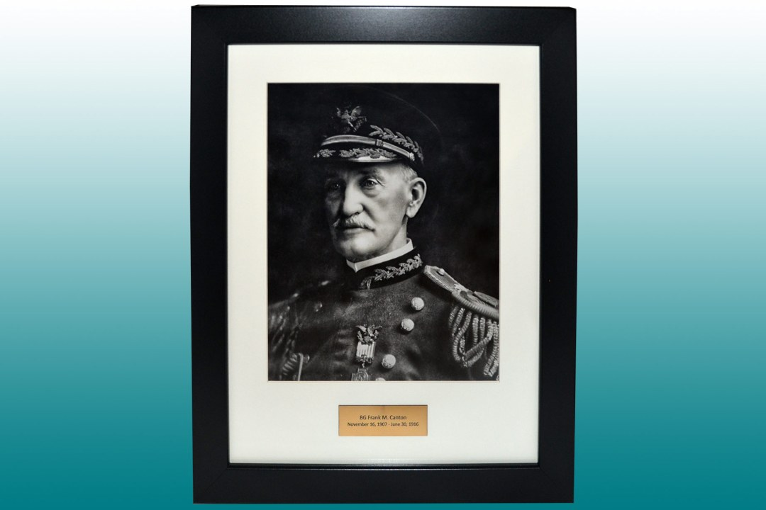 Framed headshot of Brigadier General Canton.