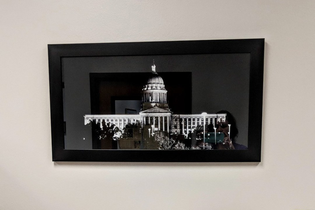 Framed image of OK Capitol.