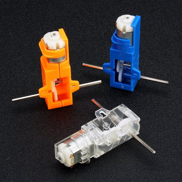 1:28 Transparent/Blue/Orange Hexagonal Axis 130 Motor Gearbox for DIY Chassis Car Model 1