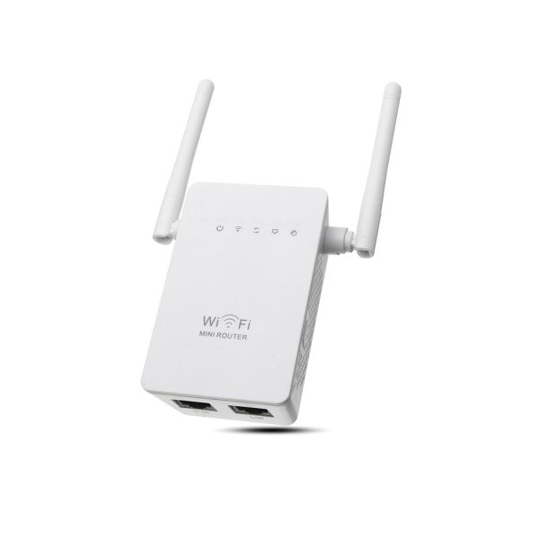 300Mbps  802.11 Dual Antennas Wireless Wifi Range Repeater Booster AP Router UK Plug 1