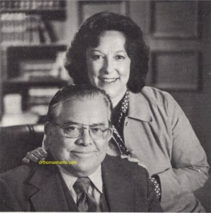 1984 photograph Dr. Thomas A. Harris and wife Amy Harris