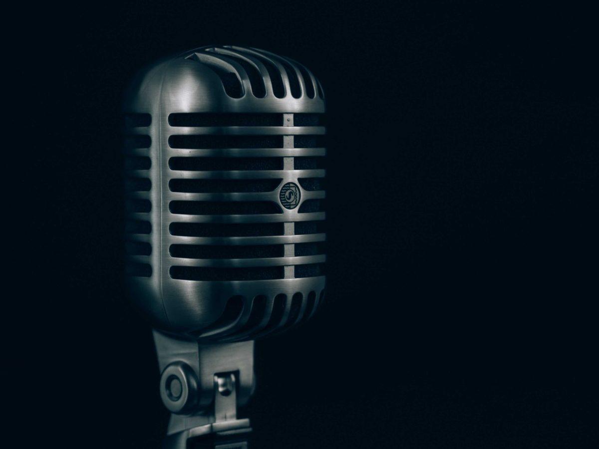 Platform Antique Microphone